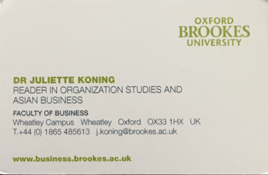 Background juliette koning i am professor in organisational studies at the oxford brookes business school oxford brookes university uk i hold a phd in social anthropology from the reheart Choice Image